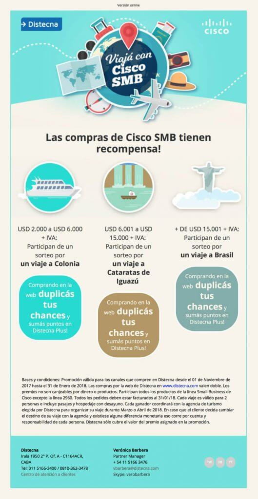 Viaja con Cisco SMB